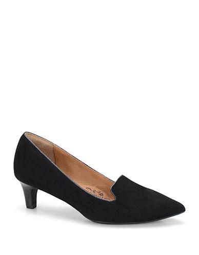 SOFFTVesper Suede Kitten Heel Loafers