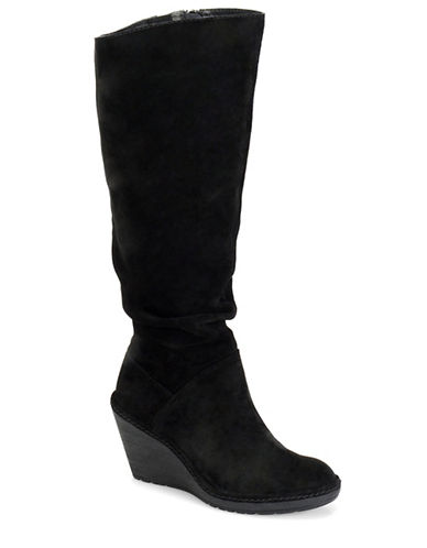 Buy Calida Slouchy Suede Knee-High Wedge Boots by Sofft online