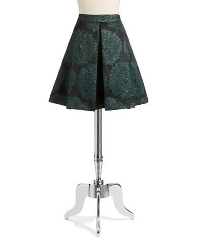 TRINA TURKJacquard Print Pleated Skirt
