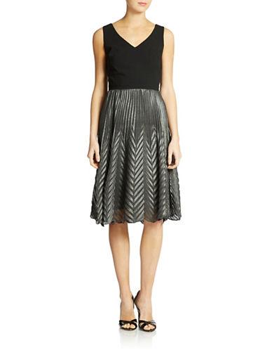TRINA TURKPleated Cocktail Dress