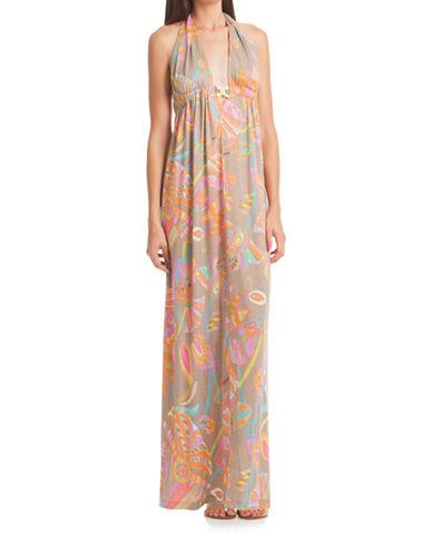 Shop Trina Turk online and buy Trina Turk Biscayne Halter Maxi Dress dress online