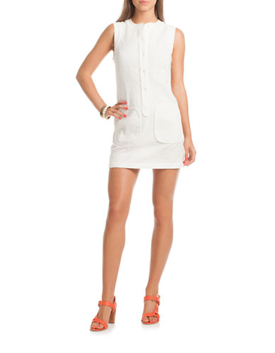 Shop Trina Turk online and buy Trina Turk Lelah Perforated Shift Dress dress online