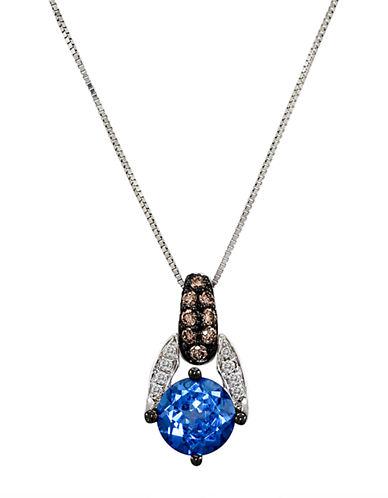 LEVIAN14Kt White Gold Topaz and Diamond Pendant Necklace
