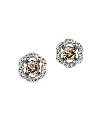 LEVIAN Chocolate Diamond Stud Earrings in 14 Kt. White Gold