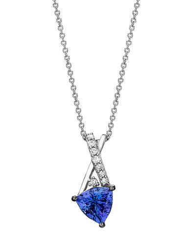 LEVIAN14Kt White Gold Tanzanite and Diamond Pendant Necklace