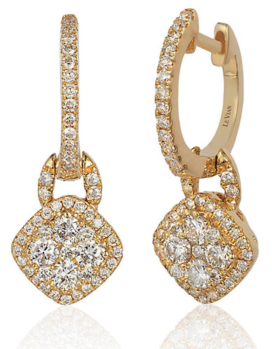 LEVIAN 14Kt Yellow Gold and Diamond Drop Earrings