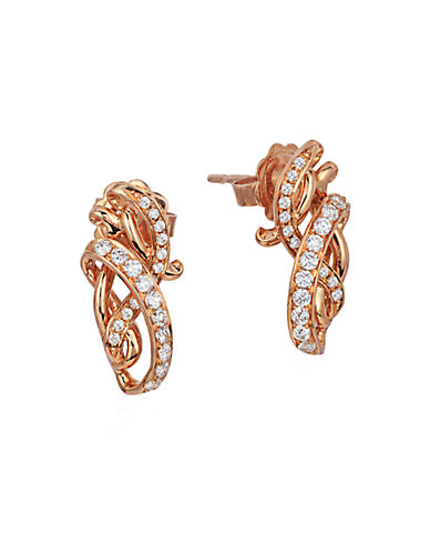 LEVIAN14K Strawberry Gold and Vanilla Diamond Earrings