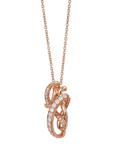 LEVIAN14K Strawberry Gold and Vanilla Diamond Pendant