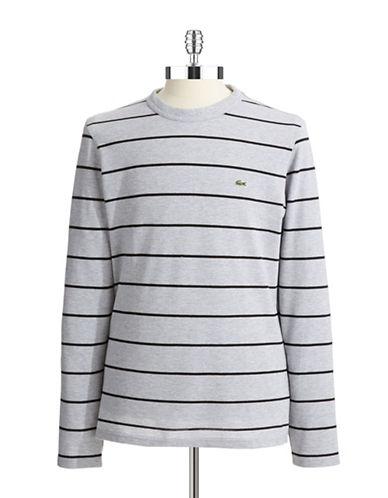 LACOSTEStriped Crewneck Shirt
