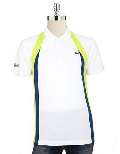 LACOSTE Ultra Dry Mixed Media Colorblock Polo