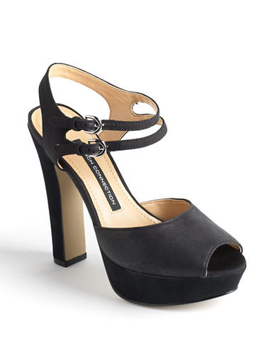 FRENCH CONNECTION Gabby Suede Platform Sandals