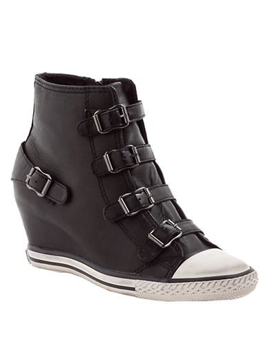 ASHEagle Leather Wedge Sneakers