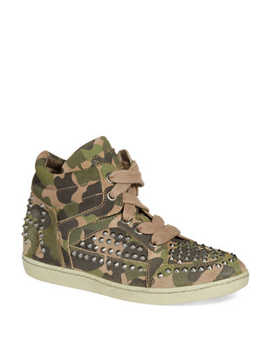 ASH Zest Leather Wedge Sneakers