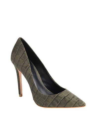 ELIE TAHARIAdele Croc-Effect Leather Pumps