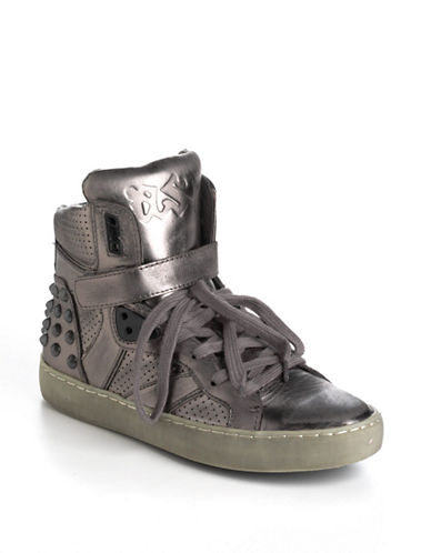 ASH Skunk Leather Wedge Sneakers