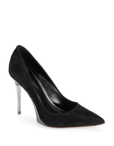 ELIE TAHARISpencer Stilettos with Faux Snakeskin Heel