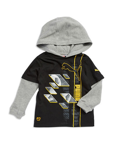 PUMABoys 8-20 Thermal Hooded Tee