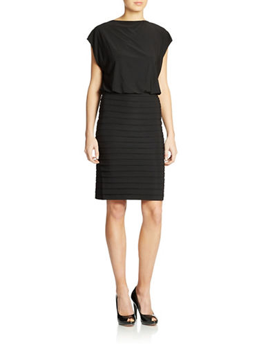 Shop Adrianna Papell online and buy Adrianna Papell Blouson-Top Dress dress online