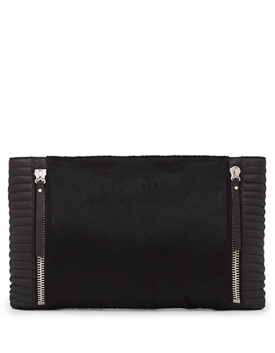 VINCE CAMUTOBaily Leather and Hair Calf Clutch