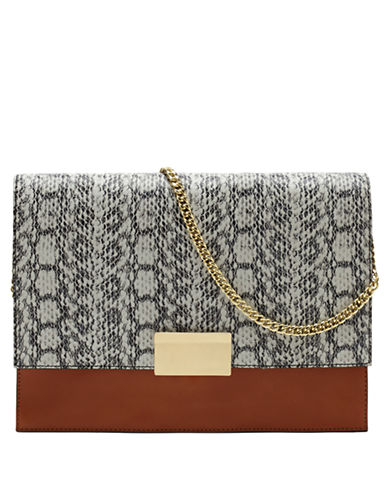 VINCE CAMUTOCaleb Leather and Embossed Hair Calf Clutch