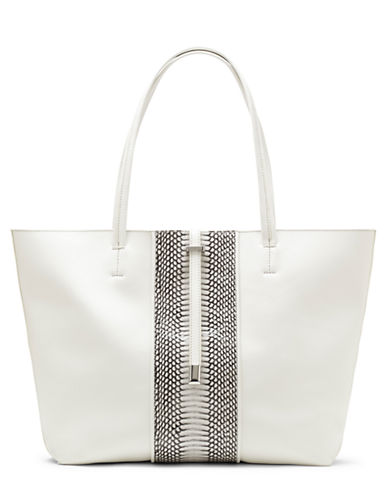 VINCE CAMUTOLeila Leather Embossed Stripe Tote