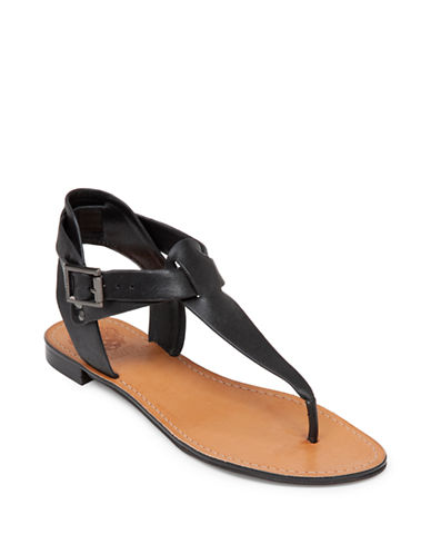 VINCE CAMUTO Miya Leather Thong Sandals