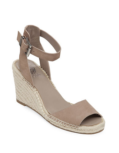 VINCE CAMUTO Tagger Nubuck Espadrille Wedge Sandals