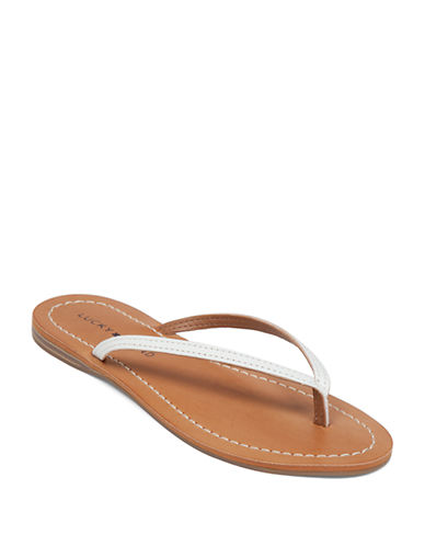 LUCKY BRAND Amberr Leather Thong Sandals
