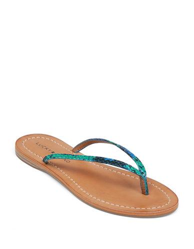 LUCKY BRANDAmberr Snake Print Sandals