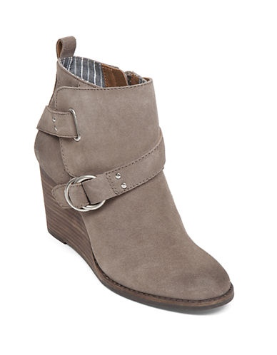 Buy Yerik Suede Wedge Ankle Booties by Lucky Brand online