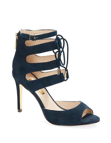 LOUISE ET CIEJanell Suede Cage Stiletto Sandals