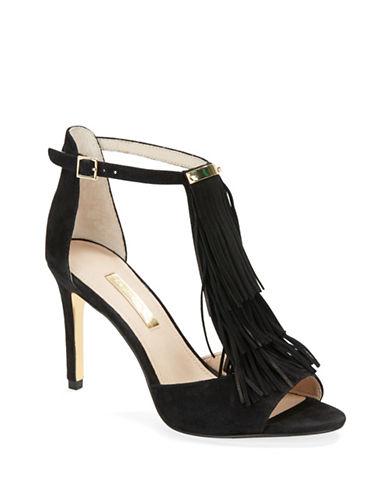 LOUISE ET CIEKayla Fringe and Suede High Heel Sandals