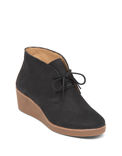 Buy Lace-Up Suede Platform Wedge Shoes by Lucky Brand online