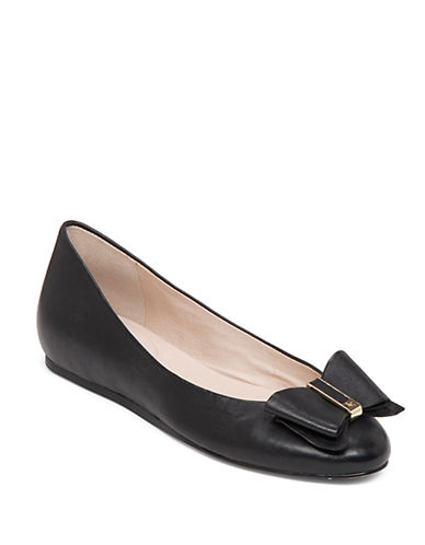 LOUISE ET CIE Fable Leather Bow Flats
