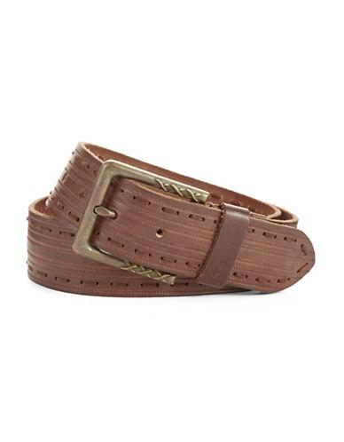 JOHN VARVATOS U.S.A.Leather Stitched Belt