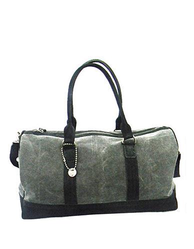 JOHN VARVATOS U.S.A.Canvas and Leather Duffel Bag