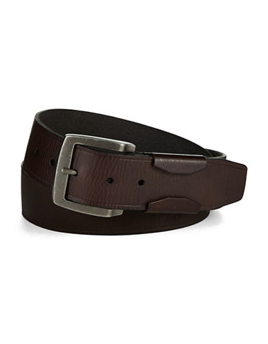 JOHN VARVATOS U.S.A. Leather Belt with Harness Buckle