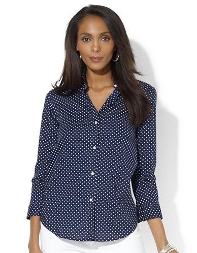 LAUREN RALPH LAURENPolka-Dot Button Down Shirt