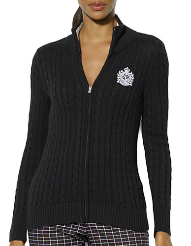 LAUREN RALPH LAUREN Full-Zip Cable-Knit Cardigan