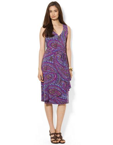 LAUREN RALPH LAURENPaisley Faux Wrap Dress