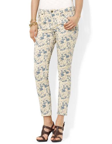 LAUREN RALPH LAURENPetite Floral Straight Ankle Jeans