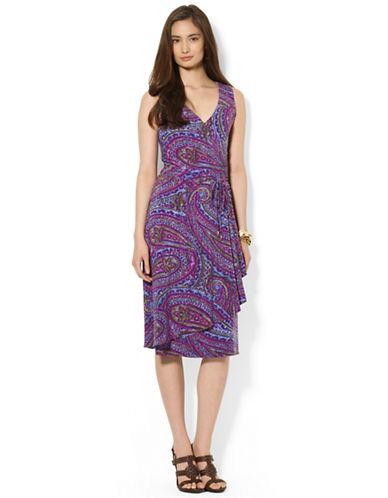 LAUREN RALPH LAURENPetite Paisley Faux-Wrap Dress