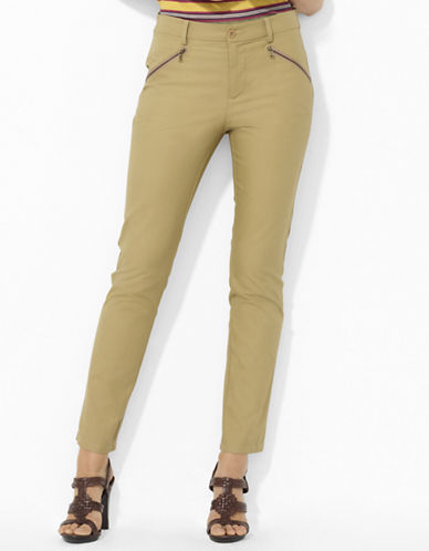 Petite Slim Stretch-Cotton Pants