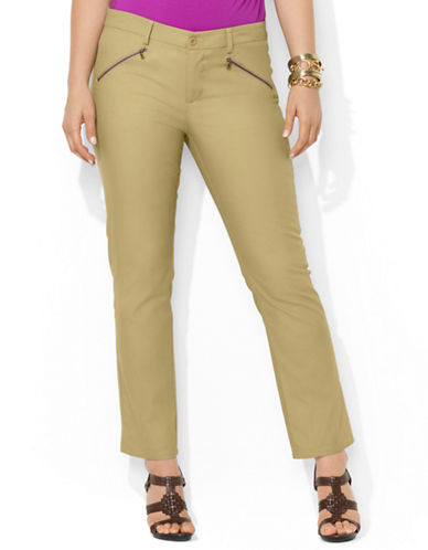 Plus Slim Stretch-Cotton Pants
