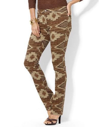 LAUREN RALPH LAURENPrinted Modern Straight Jean