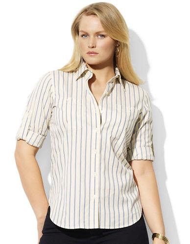 LAUREN RALPH LAURENCotton Roll-Sleeve Shirt