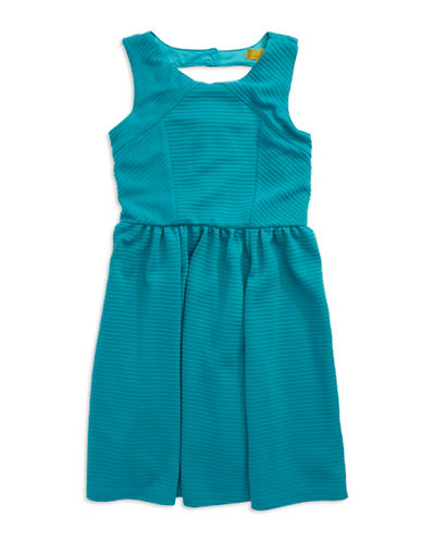 NICOLE MILLERGirls 7-16 Textured Fit and Flare Dress