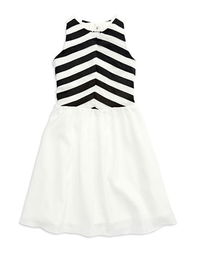 NICOLE MILLERGirls 7-16 Striped Fit and Flare Dress
