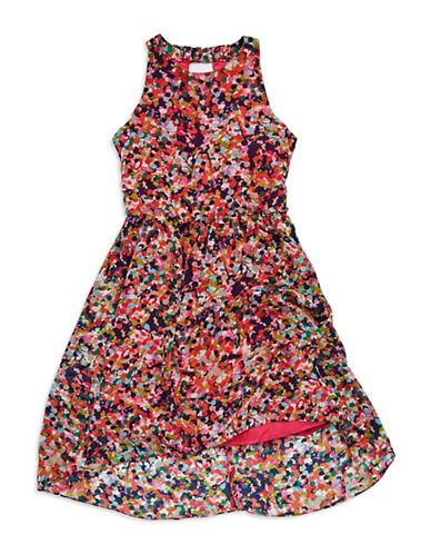 NICOLE MILLERGirls 7-16 Hi-Lo Dot Dress