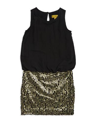 NICOLE MILLERGirls 7-16 Sequin Chiffon Dress